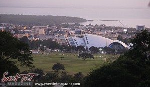 View of Port of Spain on Lady Chancellor Hil for story original outdoor gym in Sweet T&T, Sweet TnT, Trinidad and Tobago, Trini, vacation, travel