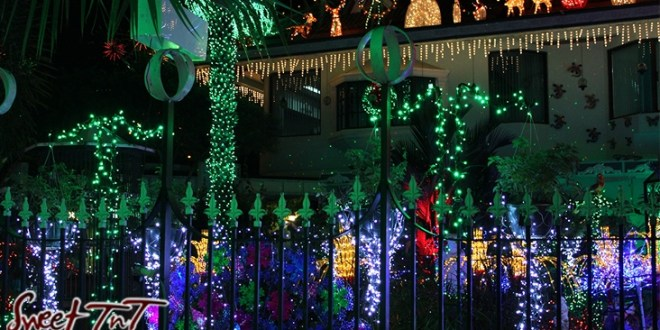Christmas lights on home in Valsayn in sweet T&T for Sweet TnT Magazine, Culturama Publishing Company, for news in Trinidad, in Port of Spain, Trinidad and Tobago, with positive how to photography. Article on fires