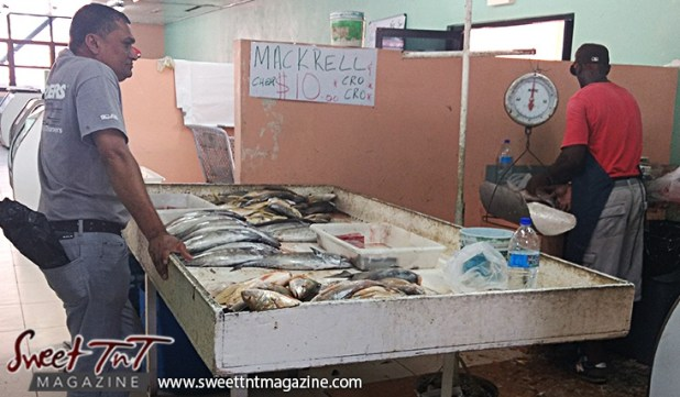 Fish in market for eat less seafood if pregnant article in sweet T&T for Sweet TnT Magazine, Culturama Publishing Company, for news in Trinidad, in Port of Spain, Trinidad and Tobago, with positive how to photography.