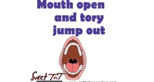Mouth open and tory jump out for Trinbago language for beginners in sweet T&T for Sweet TnT Magazine, Culturama Publishing Company, for news in Trinidad, in Port of Spain, Trinidad and Tobago, with positive how to photography.