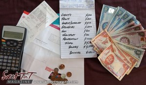 Pyramid Scheme, TT dollars bills, savings, money for how to save money article in sweet T&T for Sweet TnT Magazine, Culturama Publishing Company, for news in Trinidad, in Port of Spain, Trinidad and Tobago, with positive how to photography.