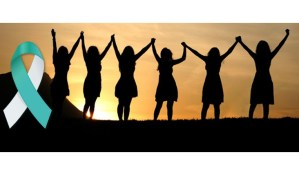 Women holding hands for Cervical Cancer month is January