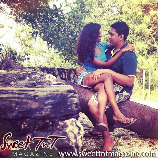 Candida Khan and Avenall Bharath share a romantic moment at Fort Abercromby in sweet T&T for Sweet TnT Magazine, Culturama Publishing Company, for news in Trinidad, in Port of Spain, Trinidad and Tobago, with positive how to photography.