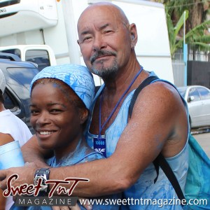 Trinidad and Tobago Carnival Jouvert couple on Ariapita Avenue, Carnival 2017 in sweet T&T for Sweet TnT Magazine, Culturama Publishing Company, for news in Trinidad, in Port of Spain, Trinidad and Tobago, with positive how to photography.