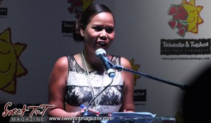 Entertainer Nikki Crosby at the launch of the Go Trinbago App at National Academy for the Performing Arts in sweet T&T for Sweet TnT Magazine, Culturama Publishing Company, for news in Trinidad, in Port of Spain, Trinidad and Tobago, with positive how to photography.