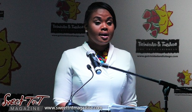 Shamfa Cudjoe, Minister of Tourism at the launch of the Go Trinbago App at National Academy for the Performing Arts in sweet T&T for Sweet TnT Magazine, Culturama Publishing Company, for news in Trinidad, in Port of Spain, Trinidad and Tobago, with positive how to photography.