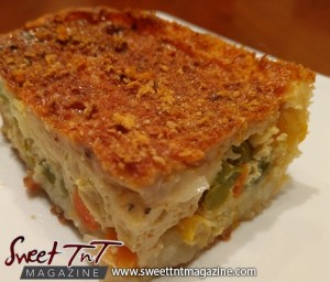 Potato crust quiche in sweet T&T for Sweet TnT Magazine, Culturama Publishing Company, for news in Trinidad, in Port of Spain, Trinidad and Tobago, with positive how to photography.