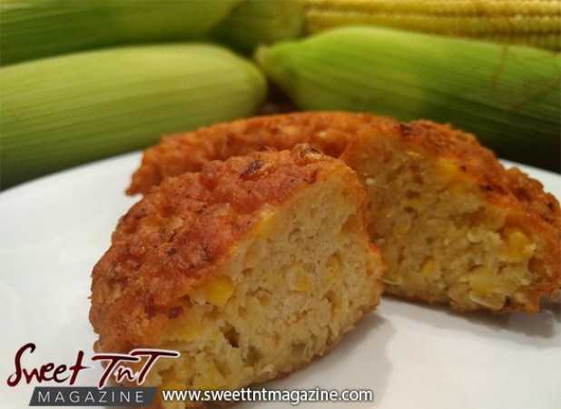 Corn fritters in sweet T&T for Sweet TnT Magazine, Culturama Publishing Company, for news in Trinidad, in Port of Spain, Trinidad and Tobago, with positive how to photography.