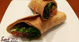 Veggie wraps on plate main in sweet T&T for Sweet TnT Magazine, Culturama Publishing Company, for news in Trinidad, in Port of Spain, Trinidad and Tobago, with positive how to photography.