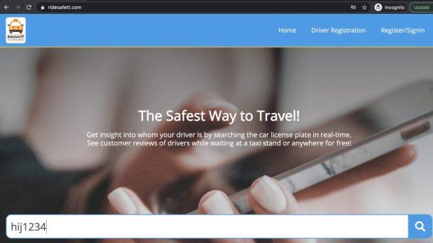 Drivers and passengers meet on ridesafett.com