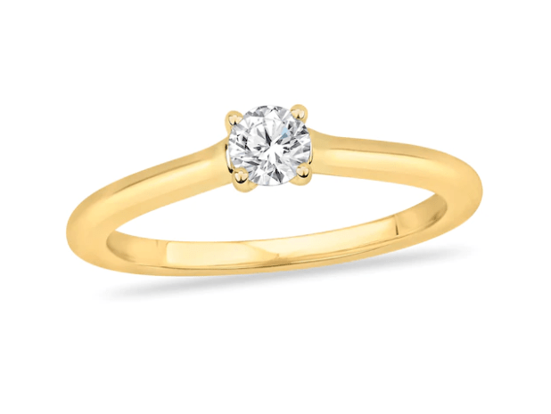 Diamond Solitaire Engagement Ring 1/5 ct