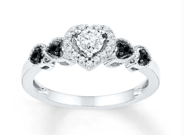 1/5 ct Promise Ring Sterling Silver