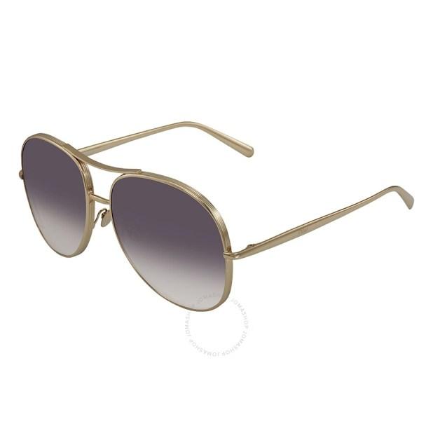 CHLOE Nola Grey Gradient Aviator Sunglasses