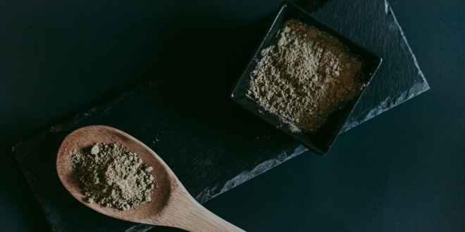 Kratom. Food wood coffee cup