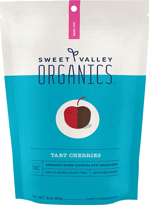 Dark Chocolate Tart Cherries packaging