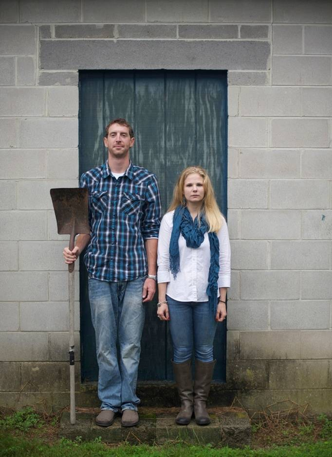American Gothic engagement photo