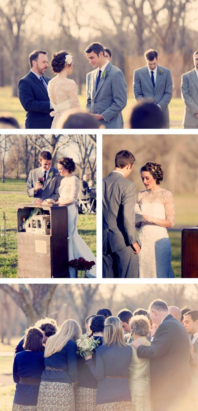 woodland wedding ceremony texas