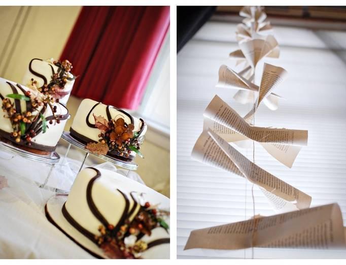 desert wedding cake