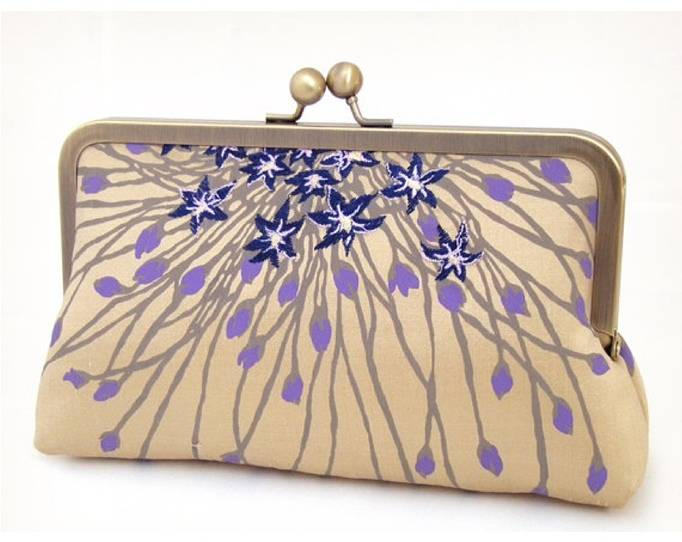 violet clutch, purple bridesmaid clutch