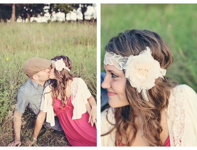 vintage wedding hair piece