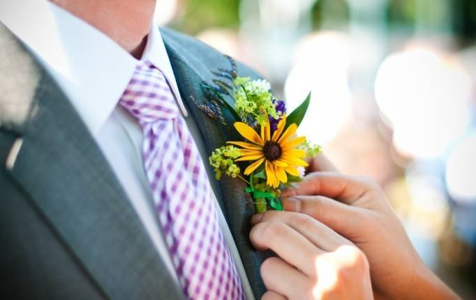 sunflower boutonniere