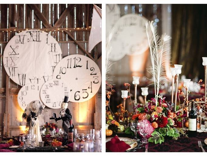 steampunk wedding reception