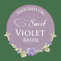 Sweet Violet Bride Badge