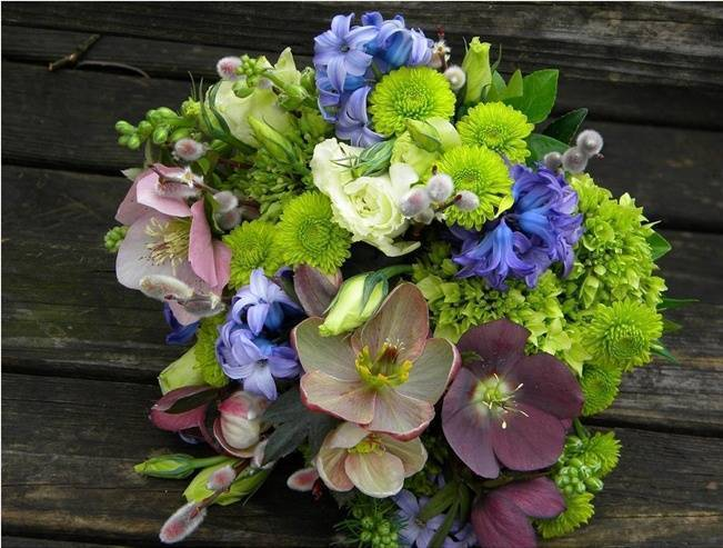 Hellebore wedding bouquet