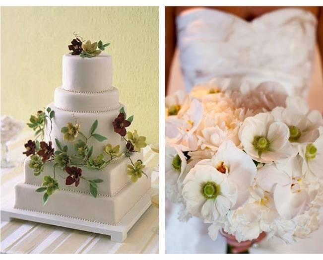 Hellebore wedding cake