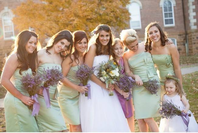 sage, seafoam green bridesmaid dresses