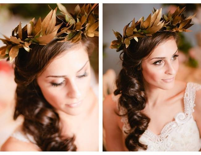greek weddin leaf crown