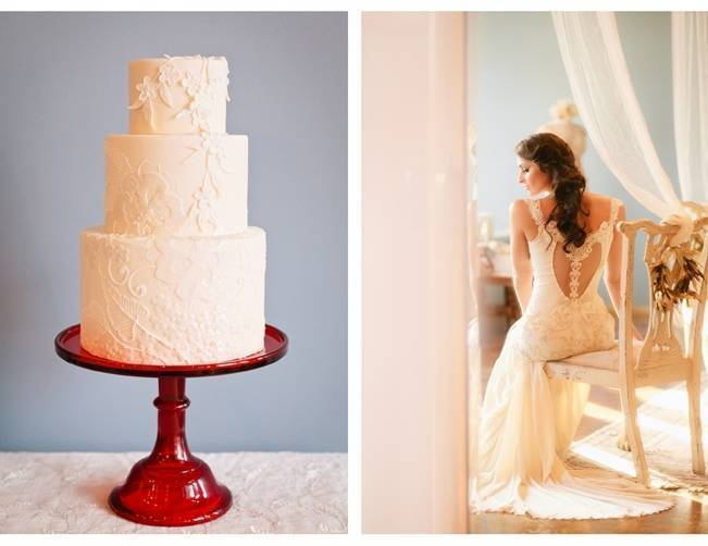 claire pettibone lace wedding cake