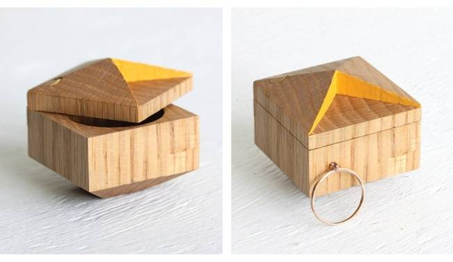 handmade wood engagement ring boxes