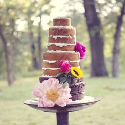 Dessert Au Naturel: Unfrosted Wedding Cakes