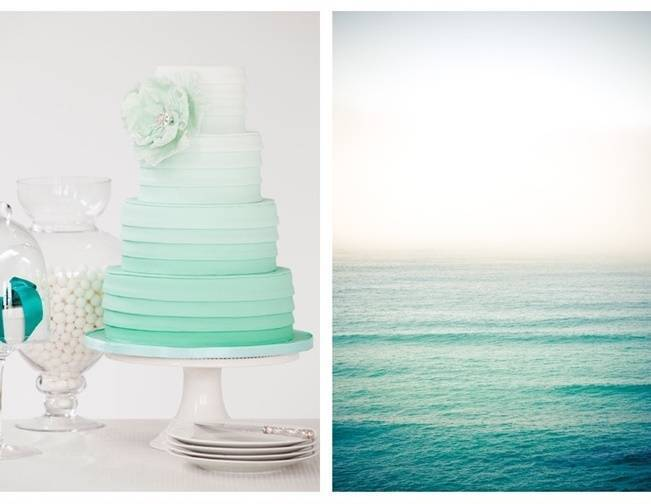 mint green ombre wedding cake a journey in color ombr 233 wedding cakes 17448