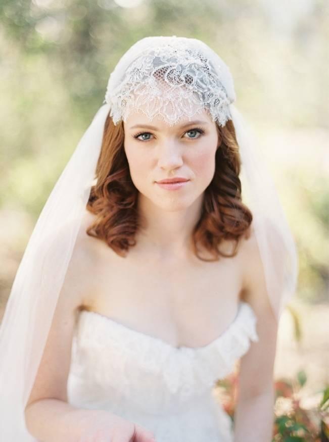 Sibo Designs bridal cap veil