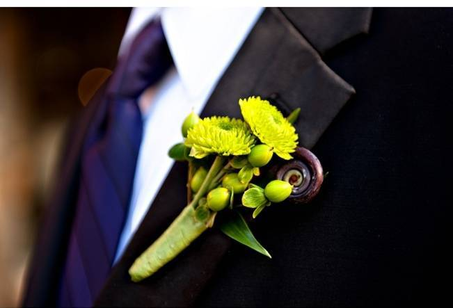 rustic fiddlehead boutonniere