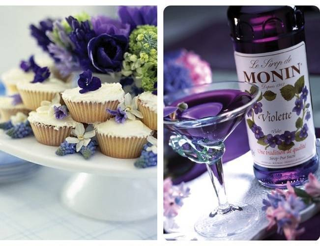candied violets, violet liquer