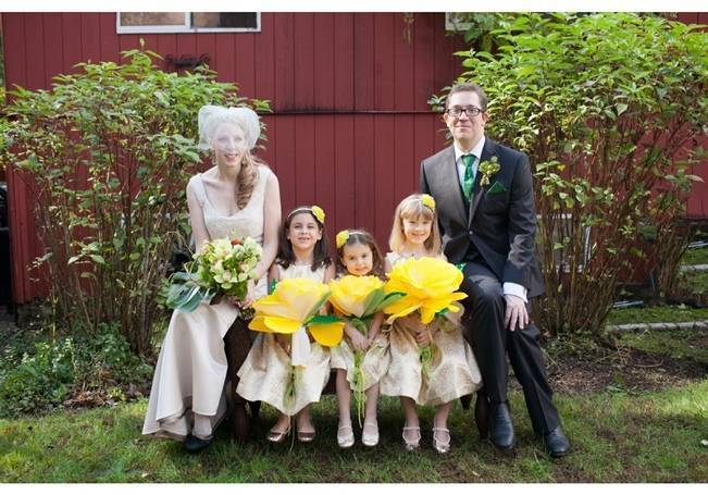 oversized paper flowers for flowergirls