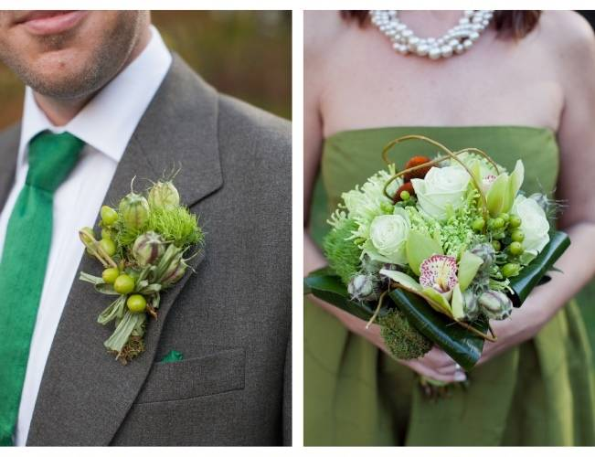 rustic green boutonniere