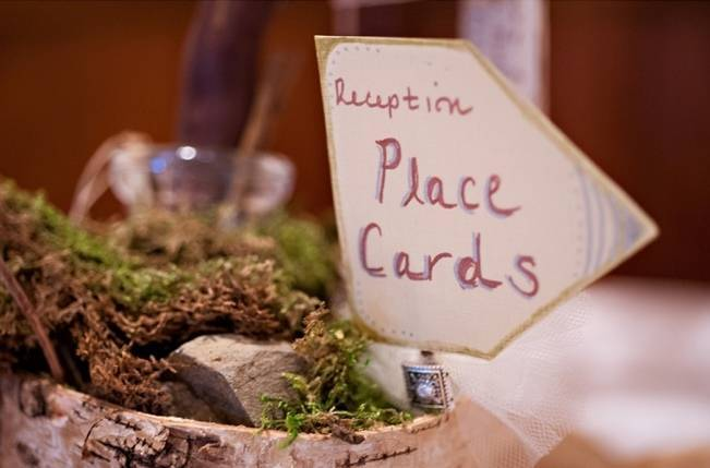 rustic placecards