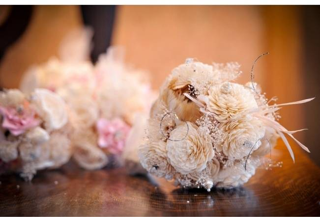 shabby chic wedding bouquet