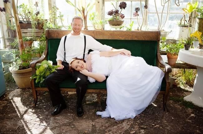 victorian bride and groom