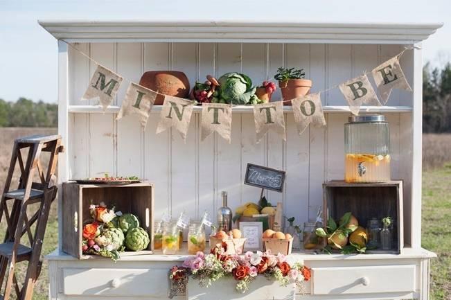 fresh vegetables wedding hutch