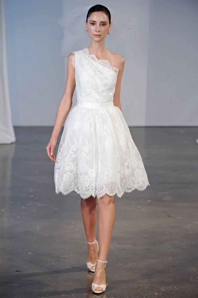 marchesa spring 2014 bridal short lace