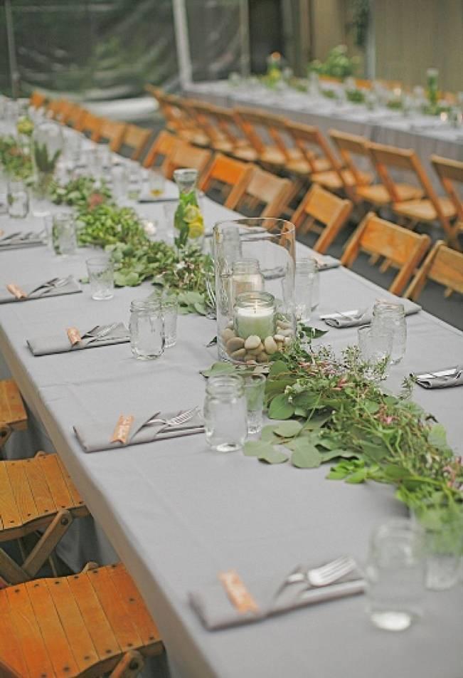 leafy table garland