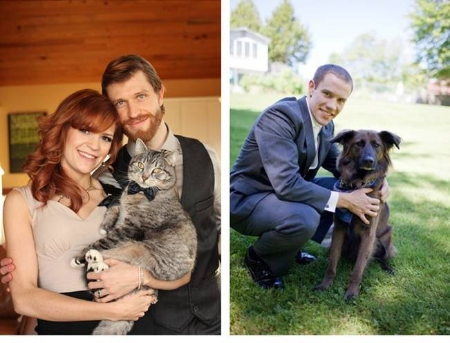 pets in the wedding party