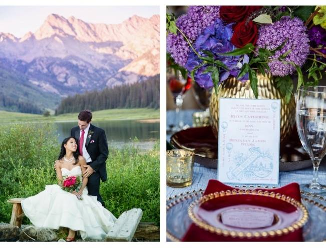 jewel tone mountain wedding