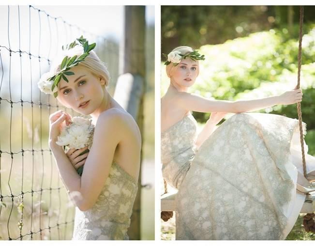 patterned wedding dress