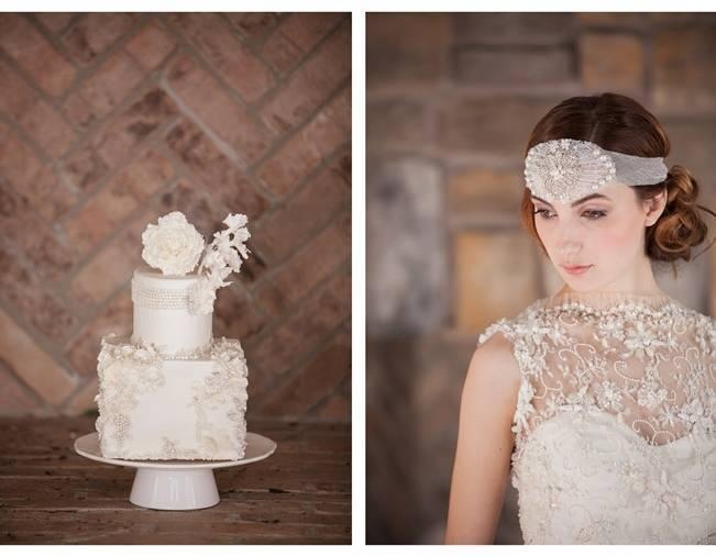 matching wedding cake